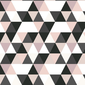 Blush black and white Triangles