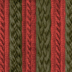 Christmas Stripe Cable Knit