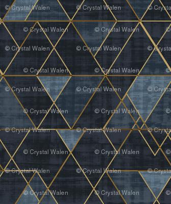 Mod Triangles Gold Indigo