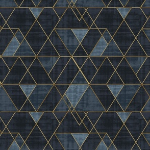 Mod Triangles Gold Indigo