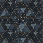 Indigo Triangles Gold
