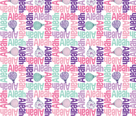 personalised name designs - 4way with pic fabric by spunkymonkees on Spoonflower - custom fabric