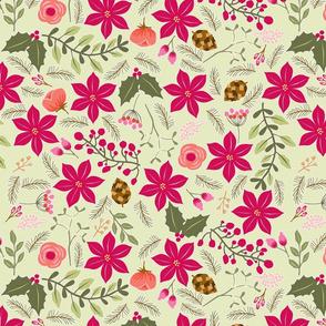 Poinsettia_flower_fond_vert_L