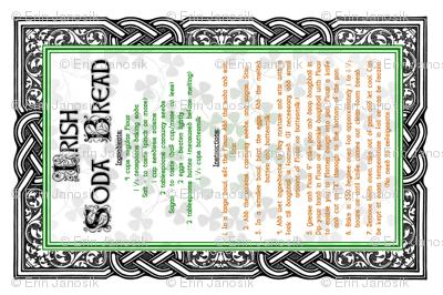 Irish Soda Bread Recipe Tea Towel