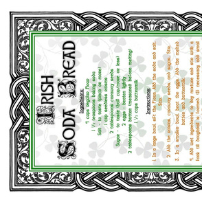 Irish Soda Bread Recipe Tea Towel