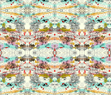 Beauty of Chaos fabric by floramoon_designs on Spoonflower - custom fabric