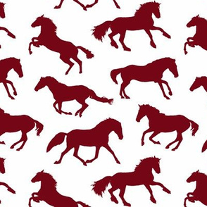Burgundy Horses