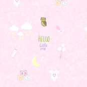 Hello Little One -  baby pink