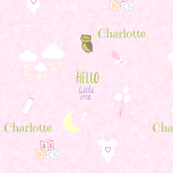 Hello Little One -  baby pink-PERSONALIZED Charlotte
