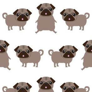 Pug // pugs dog dogs cute animal print kids baby nursery