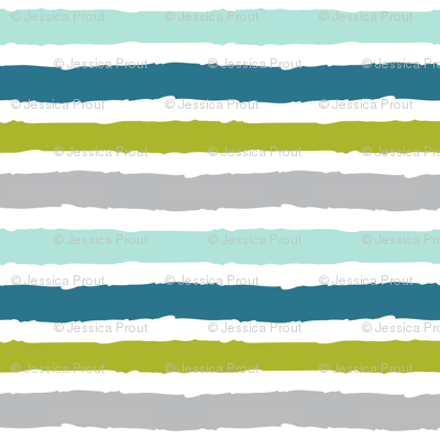 modern dino - multi stripe iguana green
