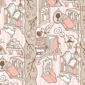 Books: Through the rabbit hole - Pink Cake