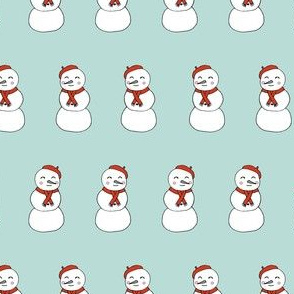 snowman // cute snowmen snowman christmas fabric cute xmas holiday designs