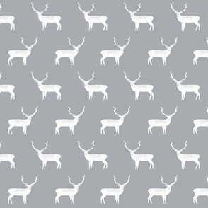reindeer // christmas reindeer grey christmas deer cute christmas fabric deer fabric