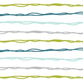 modern dino basic - skinny stripe