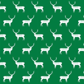 reindeer // green christmas reindeer cute christmas holiday xmas design