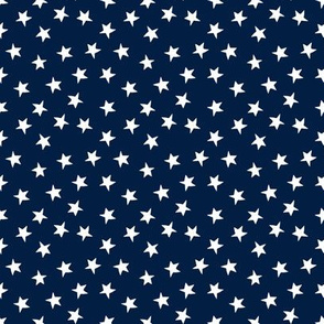 stars // christmas stars fabric navy blue fabric cute christmas design