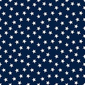 stars // christmas stars fabric navy blue fabric cute christmas design