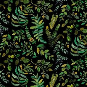 Woodland Ferns and Greens by Angel Gerardo