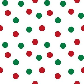 christmas dots // red and green christmas fabric christmas dots cute christmas red and green design
