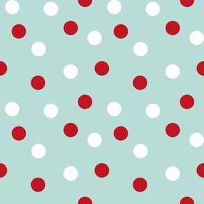 christmas dots // mint and red christmas fabric cute xmas holiday christmas design mint and red christmas