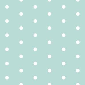 mint dots // dot christmas dot cute mint dots pink christmas fabric