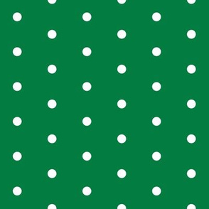 christmas dots // green christmas fabric cute xmas holiday christmas fabrics green christmas design