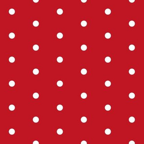 red mini dots // christmas red dots christmas fabric cute red and white christmas dots holiday xmas design