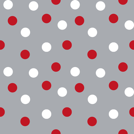 christmas dots // grey and red christmas xmas holiday christmas fabric cute holiday christmas design fabric by andrea_lauren on Spoonflower - custom fabric