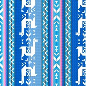 Llamas: Pink & BlueSky