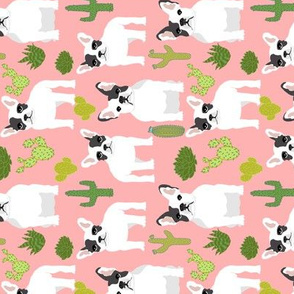 frenchies french bulldog cactus cacti cute funny dogs dog  railroad fabrics