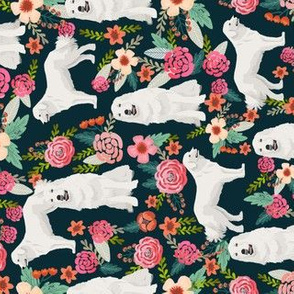 great pyrenees dog fabric cute vintage florals dog design best florals fabric for dog lovers cute florals fabric railroad fabric florals fabrics