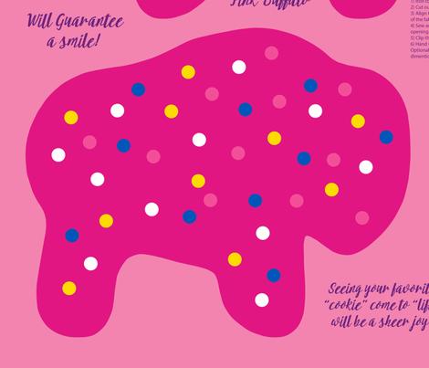 Buffalo Circus Animal Cookie Pillow Pattern fabric by mariafaithgarcia on Spoonflower - custom fabric