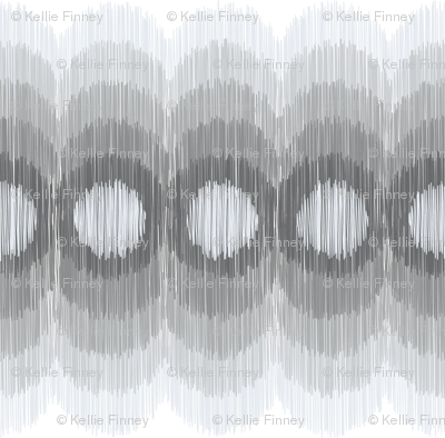 Scalloping Circles Ikat Gray 3