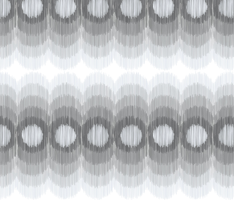 Scalloping Circles Ikat Gray 3 fabric by boxwood_press on Spoonflower - custom fabric