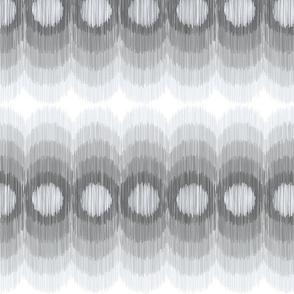 Scalloping Circles Ikat Gray 3