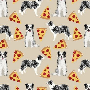 blue merle border collies pizza cute pizza fabrics neutral dogs fabric cute dog design