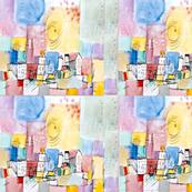 Klee Parody German Town - Scarf
