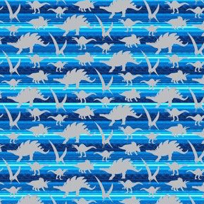 16-05X Gray grey Boy Dinosaur 4 x 3 on royal sky blue stripe _ Miss Chiff Designs