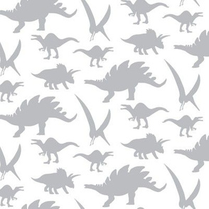 16-05V Gray Dinosaur || Animal Boy Grey White _Miss Chiff Designs