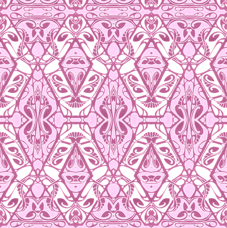 Pink Shadows fabric by edsel2084 on Spoonflower - custom fabric