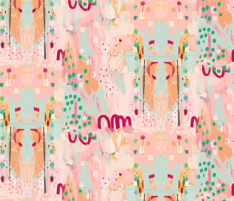 Niji Peachy fabric by zoe_ingram on Spoonflower - custom fabric