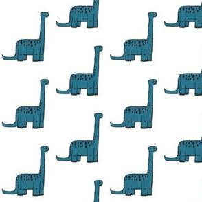 modern dino (small scale) - apatosaurus in  aruba blue