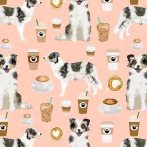 border collies fabric blush coffee fabric cute border collies design cute dogs fabric dog