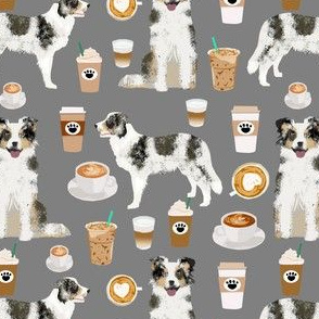 border collie blue merle coffee fabric grey coffees fabric cute border collies border collie fabric cute dogs fabric dog