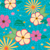 MOD Turquoise Luau Dots and Flora
