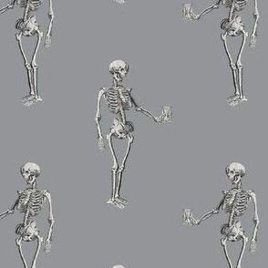 Skeleton on Light Grey