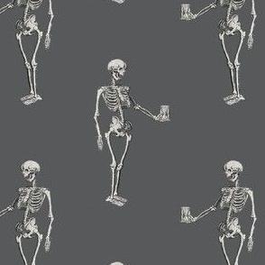 Skeleton on Dark Grey