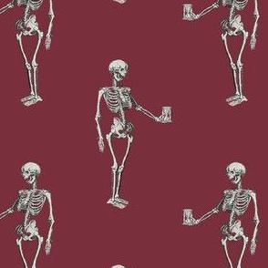 Skeleton on Red