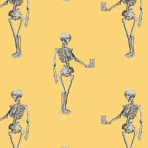 Skeleton on Yellow